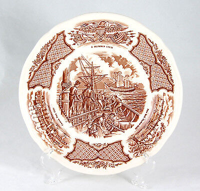 Alfred Meakin FAIR WINDS - BROWN Bread and Butter Plate 7.125 in. Constitution