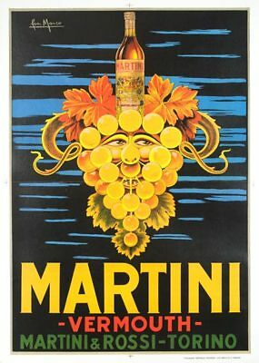 Martini Bymarco 1960 Printing Lithograph On Linen Original Vintage Poster Linen