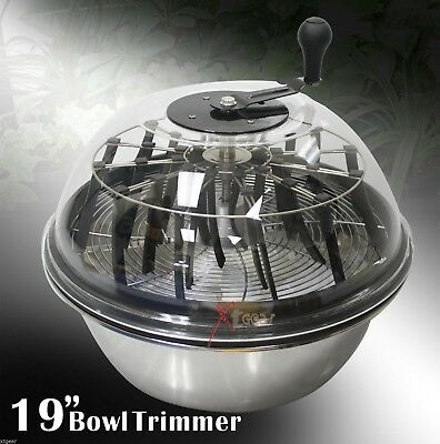 "Twisted Trimmers 19""  Hydroponics Stainless Bowl Leaf Plant Bud Spin Trimmer New"