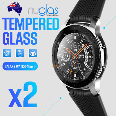 2x Samsung Galaxy Watch 46mm Genuine Nuglas Tempered Glass screen protector Film