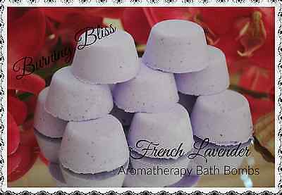 FRENCH LAVENDER Aromatherapy Bath Bombs with Coconut Oil GIFT PACK OF 10