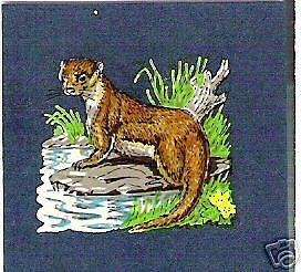 10 OTTERS TRADITIONAL COUNTYSIDE CRAFTS DECORATION TRANSFER DECALS (Small)