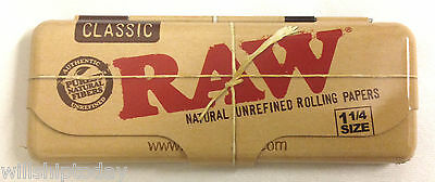 Raw Metal Storage Tin Container For 1.25 1 1/4 Cigarette Rolling Papers