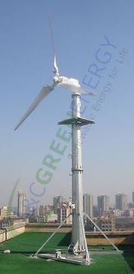 2000 W Grid-Tie Windmill Turbine 2.4kW Max Output Variable Pitch Low Wind Speed