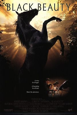 """BLACK BEAUTY 1994 Original One Sheet DS 2 Sided 27x40"""" Movie Poster Sean Bean"""