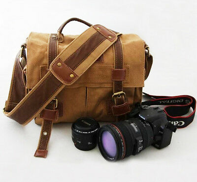 new BBK-2 Canvas DSLR Camera Bag  Messenger Shoulder Bag For Nikon Sony Canon