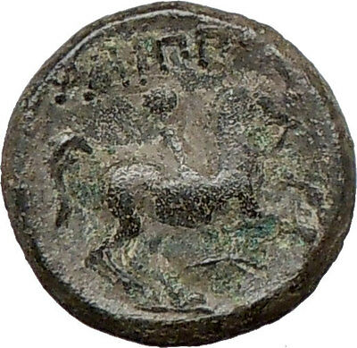 Philip II Alexander the Great Dad OLYMPIC GAMES Ancient Greek Coin Horse i16853