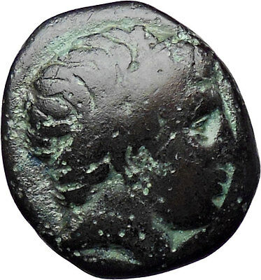Philip II Alexander the Great Dad OLYMPIC GAMES Ancient Greek Coin Horse i30327