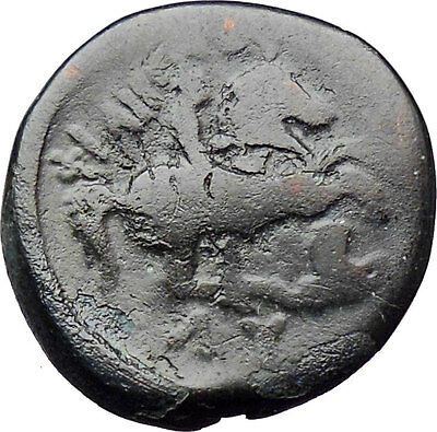 Philip II Alexander the Great Dad OLYMPIC GAMES Ancient Greek Coin Horse  i30333