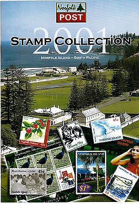 2001 Year Book of Norfolk Island (Mini Unhinged) Stamps
