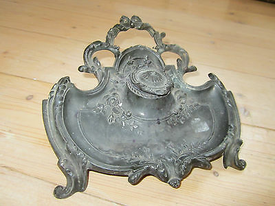 Encrier Ancien De Style Louis Xvi En Regule Deco Old Antiquity Antic French Deco