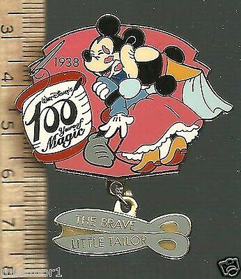 Disney Pin 100 Years of Magic LE 1938 The Brave little Tailor Minnie Mickey NICE