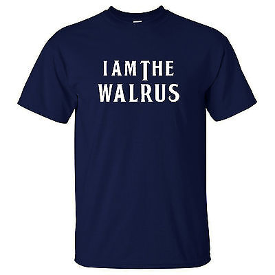 The Beatles - I am The Walrus - retro rock music T Shirt Magical Mystery Tour