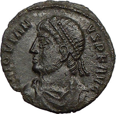 JOVIAN 363AD Very Rare Silvered Ancient Roman Coin WREATH  i18810