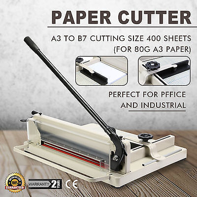 """17"""" Manual Guillotine Paper Cutter Trimmer Machine Heavy Duty Commercial A3 NEW"""