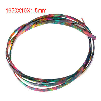 Colorful Celluloid Guitar Binding Purfling Body Project Strip 1650 x 10x 1.5mm