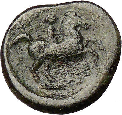 Philip II Alexander the Great Dad OLYMPIC GAMES Ancient Greek Coin Horse i28772