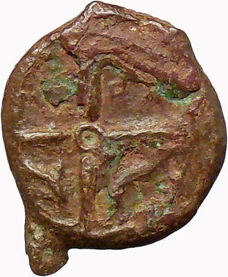 Syracuse Sicily 425BC Ancient Greek Coin  Nymph Arethusa DOLPHINS i28932