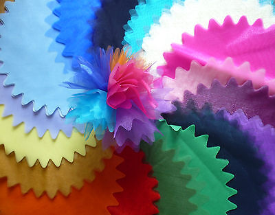 10 Luxury Tulle Organza Circles Nets - peaked zigzag edge for Favours/Bomboniere