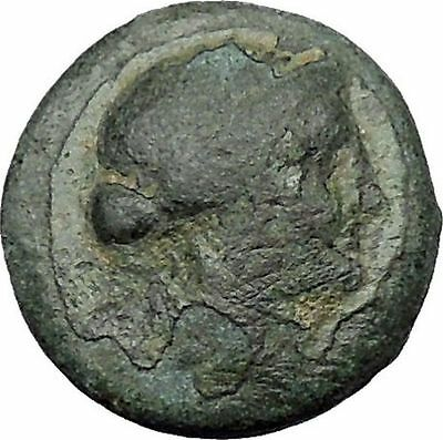 Sardes in Asia Minor  133BC Ancient Greek Coin Apollo Club within Wreath i31476