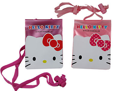 Sanrio HELLO KITTY ID Credit CARD Ticket HOLDER , Name Tag w/ Lanyard X 2 pcs