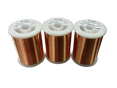 Pickup Winders Kit #2 - 42, 43, & 44 AWG Enameled Copper Magnet Wire - 1.0 lbs