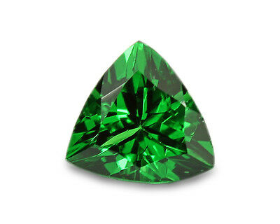 0.38 Carats Natural Tsavorite Loose Gemstone - Trilliant