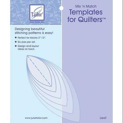 Mix'n Match Templates For Quilters 6/Pkg-Leaf