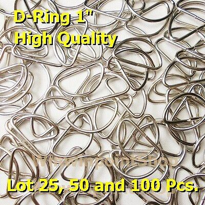"""Lot 25 50 100 Pcs. 1"""" One Inch D Rings Webbing Strapping Dee Rings High Quality"""