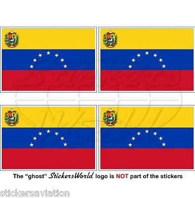 "VENEZUELA Former State Flag (7 star) Venezuelan 50mm (2"") Stickers, Decals x4"