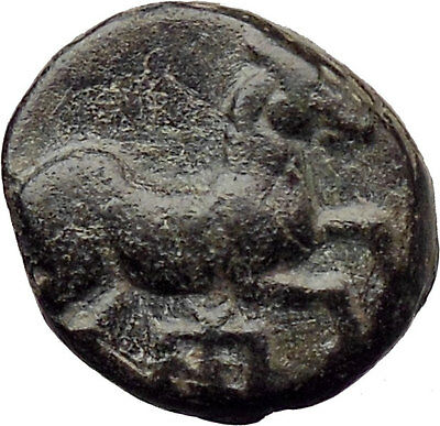 Maroneia in Thrace 400BC Ancient Greek Coin Horse monogram Vine i30543