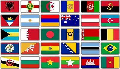 FRIDGE MAGNET - WORLD FLAGS (Various) Large Jumbo, A to C