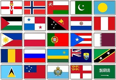 FRIDGE MAGNET - WORLD FLAGS (Various) Large Jumbo, N to S