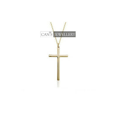 Classic 18K Rose Gold Plated Stylish Men's / Women's Solid Cross Necklace N224
