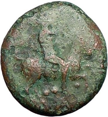HIMERA Sicily 420BC Pan on Goat w Shell & Nike RARE  Ancient Greek Coin i26935