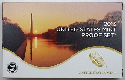 2013 S Mint Annual Clad Proof Set,14 Deep Cameo Proof Coins in Mint Box with COA
