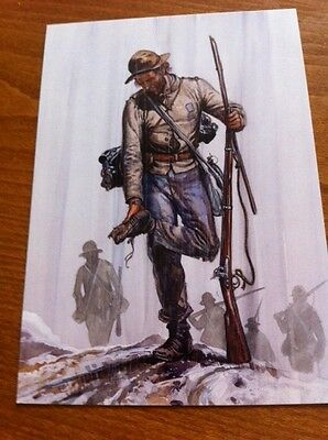 Large Collectors Postcard - Confederate Infantry on the March 1861-65 - NEW