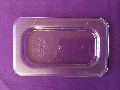 6x Bain Marie Tray Lids / Gastronorm Lids  Clear Polycarbonate  1/9 Size