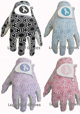 4 Finest Ribbon Logo Cabretta Leather Golf Gloves 4 Ladies XS Small Medium Large
