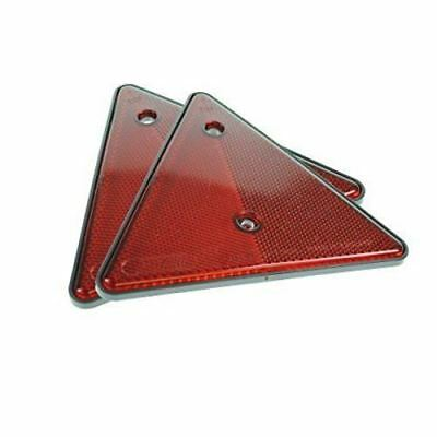 Pair of Red Triangle Reflectors Screw Fit Rear for Trailers-Caravans-Gatepost