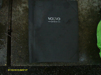 Volvo Dark Grey Fabric Binder Style Wallet For Vehicle Documents Etc