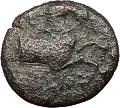 CYME (KYME) in Asia Minor 300BC Rare  Ancient Greek Coin Horse Vase  i27710