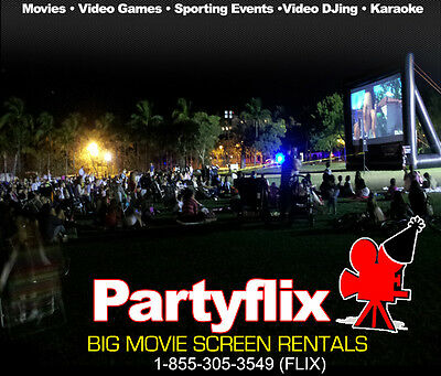 Partyflix Big Movie Screen Rental Franchise