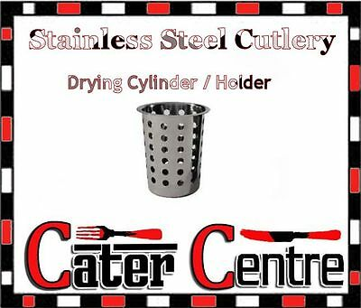 Stainless Steel Cutlery Drying Cylinder / HolderStainless Steel Cutlery Drying C