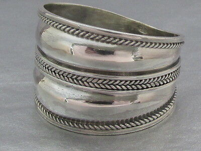 Genuine 925 Sterling Silver Bali Style oxidised wide Ring Size  I ,J, M1/2 ONLY