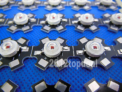 10PCS 3W RED 80lm 650nm-660nm LED Plant Glow Light with 20mm Star Base