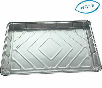 Foil baking trays large tray bake containers aluminium disposable dishes 12 x 8""