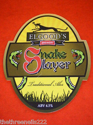Beer Pump Clip - Elgood's Snake Slayer