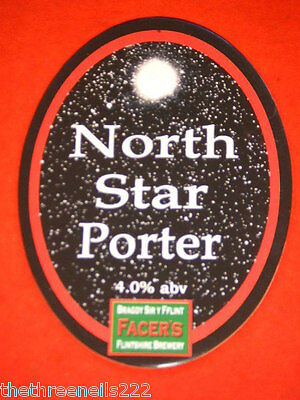 Beer Pump Clip - Facer's North Star Porter