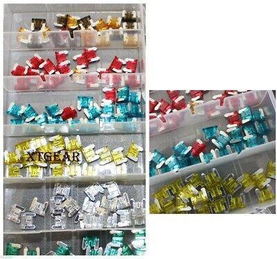 New 120PC Low Profile Trucks SUV'S Auto Fuses Assorted Color Coded Car Fuse